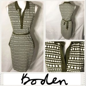 Boden 70s Inspired Collared Dress Sz 4